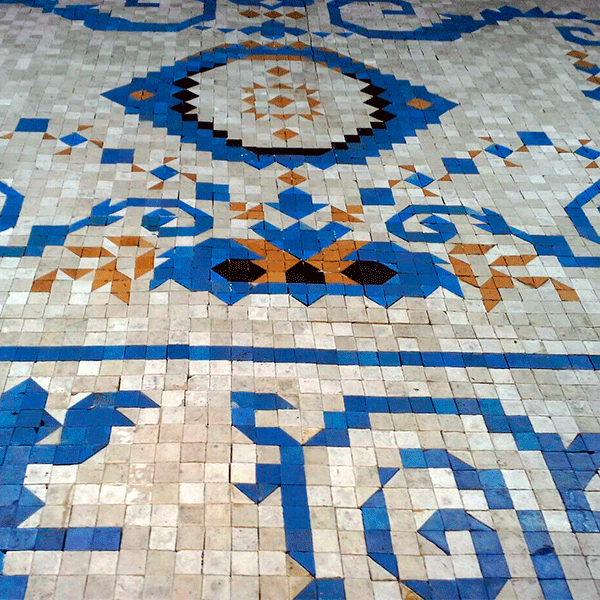 MosaicosBarcelona |Restauración de suelo en mosaico romano en Barcelona