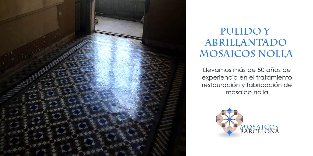 MosaicosBarcelona |Pulido y abrillantado de mosaico nolla