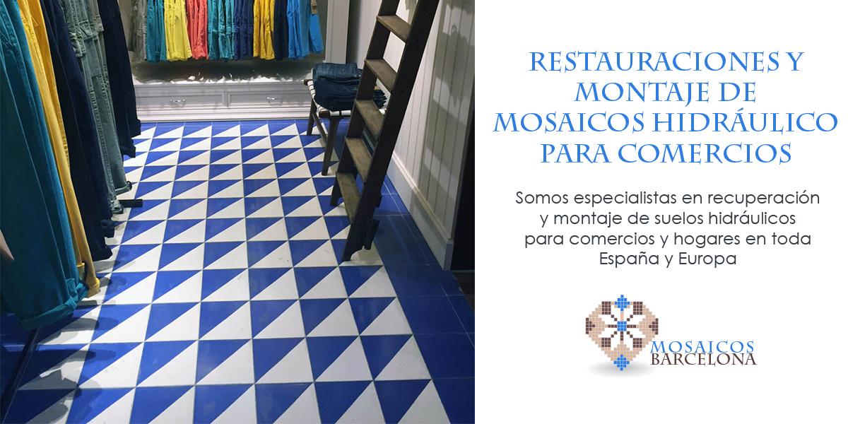 MosaicosBarcelona | Restauraciones y montaje de mosaicos hidraulicos para locales comerciales