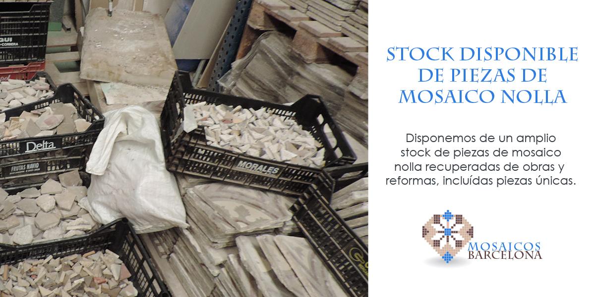 MosaicosBarcelona | Stock disponible de piezas de mosaico nolla