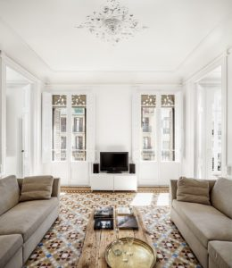 Mosaicos Barcelona | Apartamento en Consell de Cent suelo hidraulico restaurado