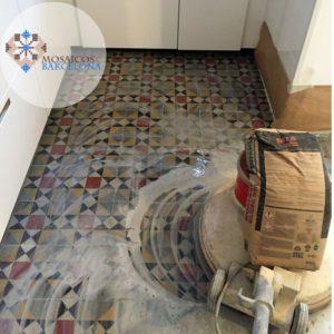 MosaicosBarcelona Recuperación y Pulimento de suelo hidraulico restaurado