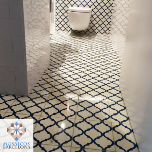 MosaicosBarcelona Reforma de baño en vivienda de barcelona con mosaicos hidraulicos
