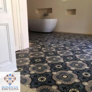 MosaicosBarcelona Tratamiento de baldosas hidraulicas originales en vivienda de barcelona
