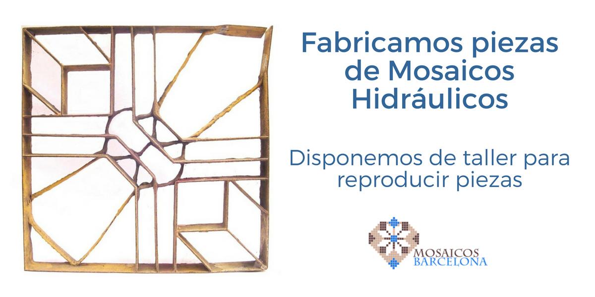 Fabricamos piezas de Mosaicos Hidráulicos